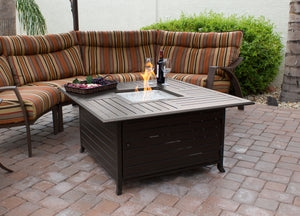 Square Cast Aluminum Patio Tables AZ Slatted Available Now!