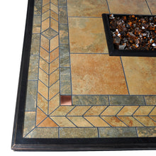 Find Rectangle Outdoor Propane Fire Pits Tretco Panama With Tile Top!