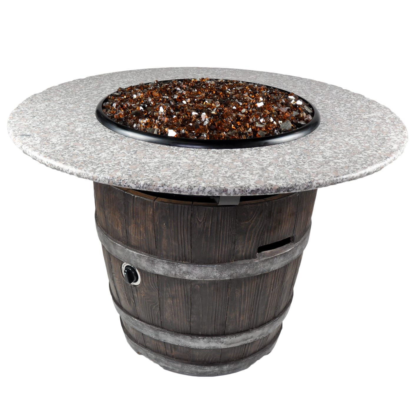 Buy Round Outdoor Propane Fire Pits Tretco Wine Barrel III!