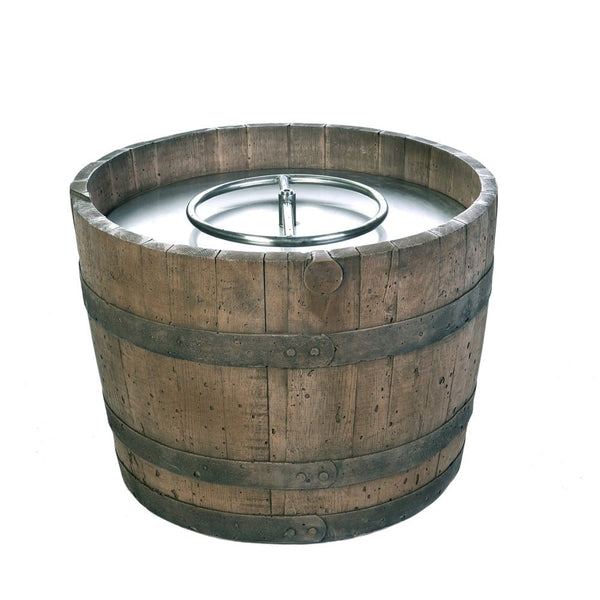 Look At This Round Outdoor Propane Fire Pits Tretco Wine Barrel Weathered!