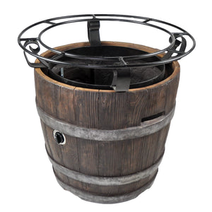 Try Round Outdoor Propane Fire Pits Tretco Wine Barrel III!