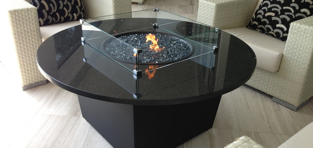 Add A Firetainment Fire Table Glass Wind Guard Tempered!
