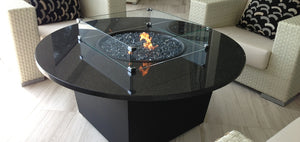 You'll Love Firetainment Fire Tables Riviera With Tempered Glass Wind Guard!