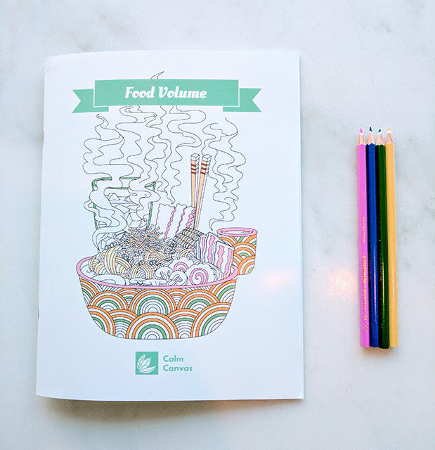 Food Volume - Colouring Book