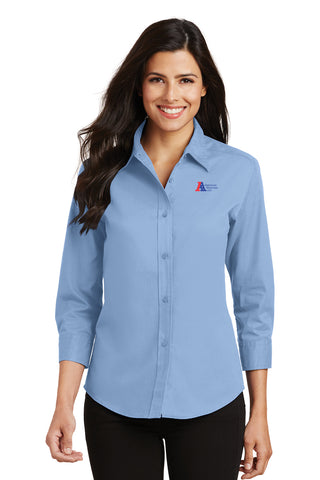 American Materials Ladies Button Up Shirt
