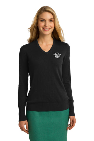 Dunn Blacktop Company Ladies V-Neck Sweater