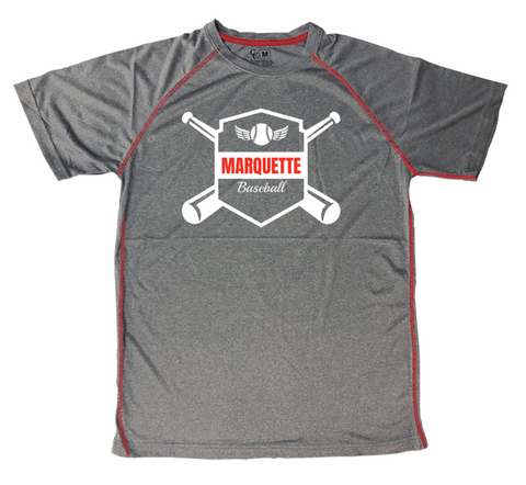 Marquette Fan Top Stitch Tee