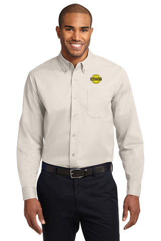 Mathy Construction Company Button Up Shirt