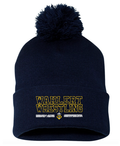 Wahlert Wrestling Beanie with Puff