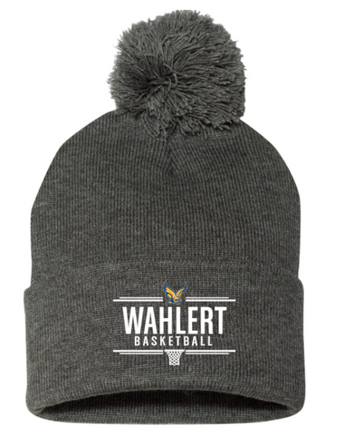 Wahlert Women's Basketball Beanie with Pom Pom