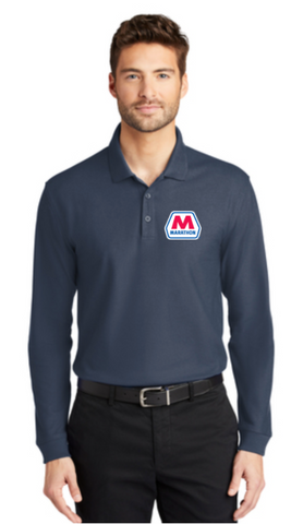 Marathon Dealer Classic Pique Long Sleeve Polo
