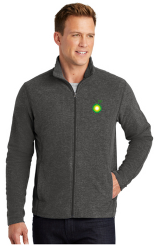 BP Dealer Heather Microfleece Full-Zip Jacket