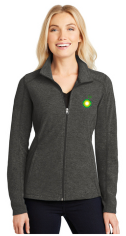 BP Dealer Ladies Heather Microfleece Full-Zip Jacket