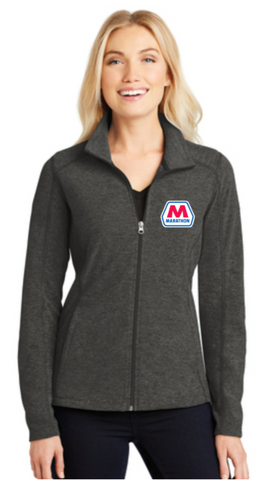 Marathon Dealer Ladies Heather Microfleece Full-Zip Jacket