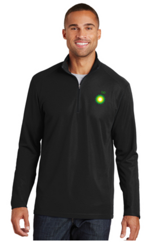 BP Dealer Pinpoint Mesh Quarter Zip