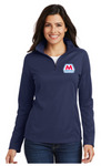 Marathon Dealer Ladies Pinpoint Mesh Quarter Zip