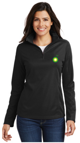 BP Dealer Ladies Pinpoint Mesh Quarter Zip