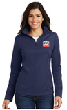 Phillips Dealer Ladies Pinpoint Mesh Quarter Zip