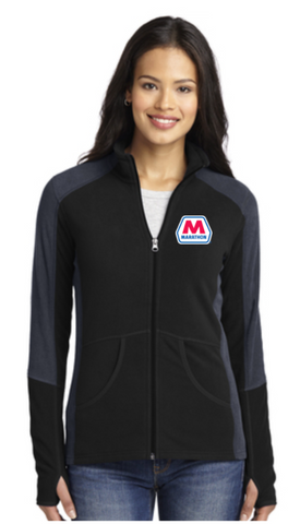 Marathon Dealer Ladies Colorblock Microfleece Jacket