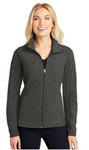 Dealer Ladies Heather Microfleece Full-Zip Jacket