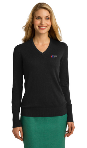 American Materials Ladies V-Neck Sweater