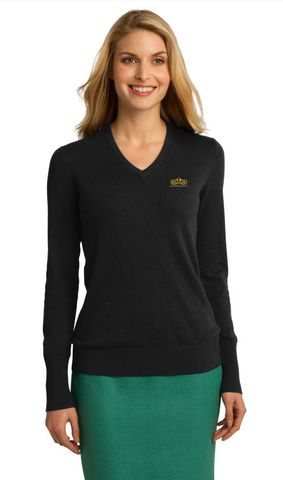Fahrner Asphalt Ladies V-Neck Sweater