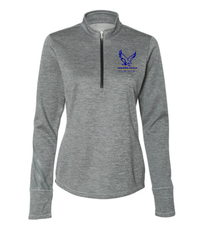"Booster ""Pick Your Sport "" Golden Eagles Sports Adidas Ladies Quarter Zip"