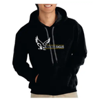 Booster Golden Eagle Horizontal Premium Cotton Hooded Sweatshirt