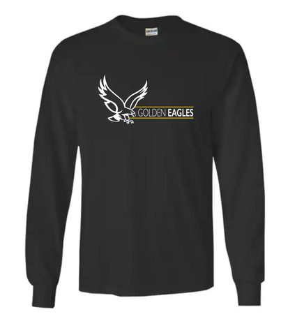 Booster Golden Eagles Horizontal YOUTH Long Sleeve Tshirt (More Colors Available)