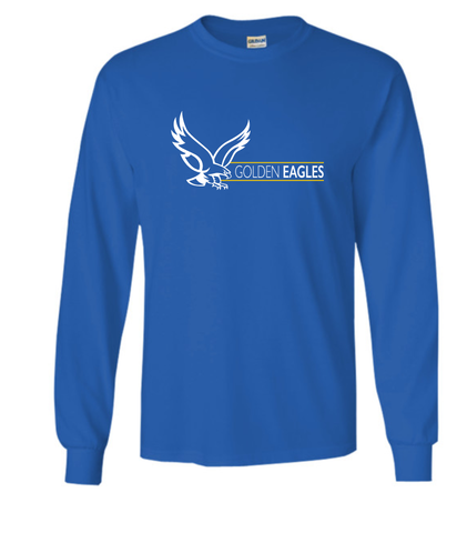 Booster Golden Eagles Horizontal Long Sleeve Tshirt (More Colors Available)