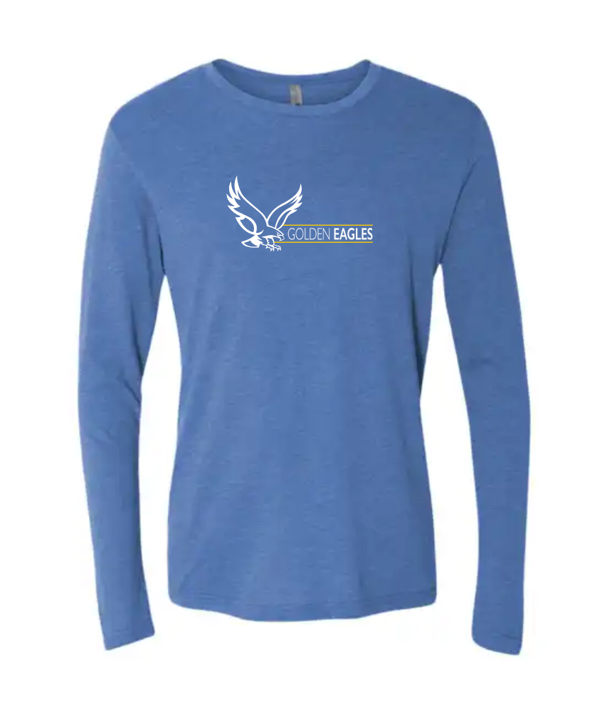 Booster Golden Eagles Horizontal Premium Triblend Long Sleeve Tshirt