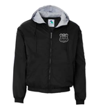 Customized fleece lined hooded jacket