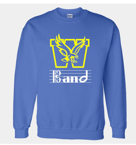 Wahlert Catholic Band Custom Crewneck Sweatshirt