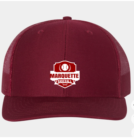 Marquette Cardinal/White Snapback Trucker Hat