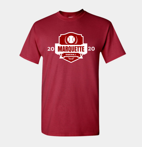 "Marquette ""Crest"" Ultra Cotton® Short Sleeve T-Shirt"