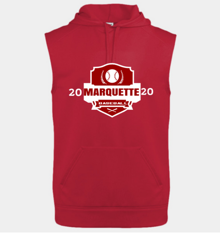 Marquette Performance Fleece Sleeveless Hooded Sweatshirt