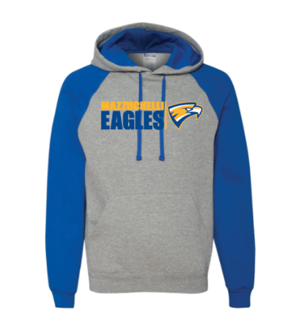 Mazzuchelli Eagle Head Colorblocked Raglan Hoodie (youth sizes)