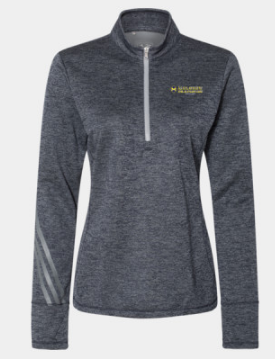 Mulgrew Oil Ladies Adidas Heathered Quarter-Zip Pullover (More Colors Available)