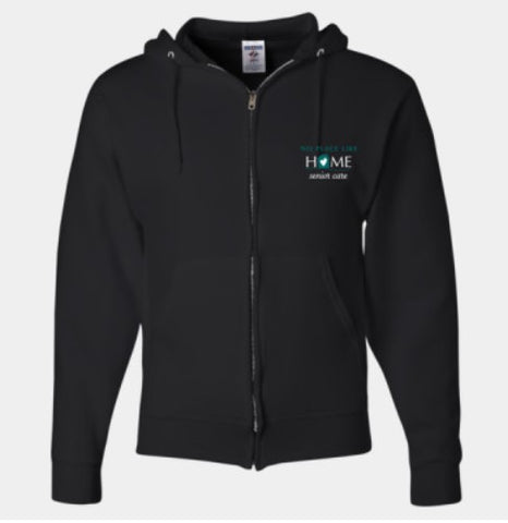 No Place Like Home- full zip hoodie (2 colors)
