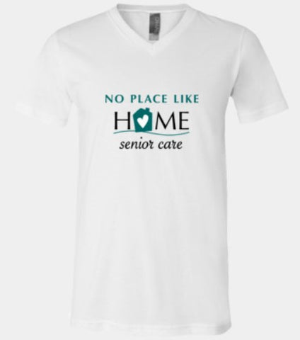 No Place Like Home- full front design v neck (3 colors)