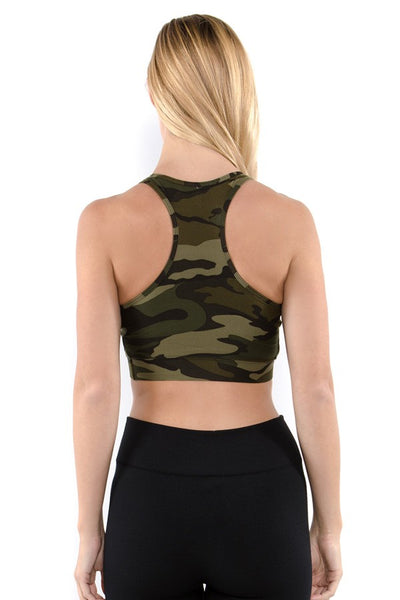 Camouflage Bra Top