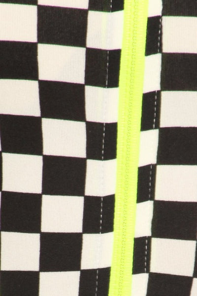 Checkered Bodysuit with side openings