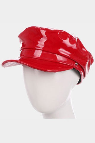 Red Patent Leather Hat