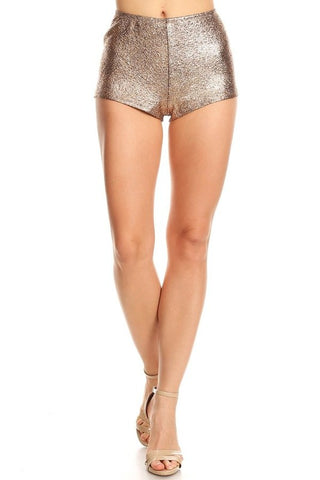 High Waisted Shiny Short