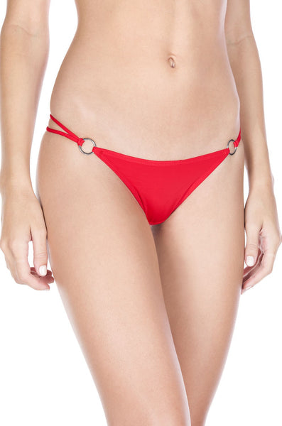 White O-ring with back bow panty