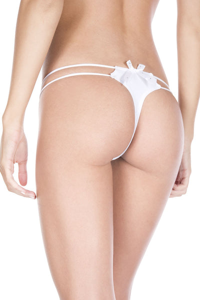 Black O-ring with back bow panty
