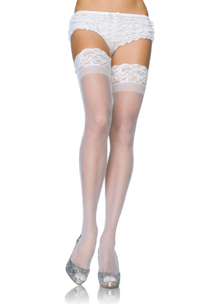 Stay Up 3inch Lace Top Lycra Sheer Thigh High
