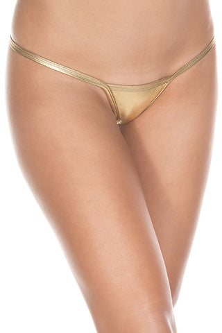 Gold Metallic g-string