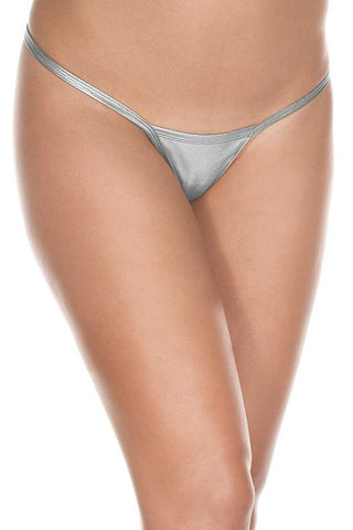 Silver Metallic g-string