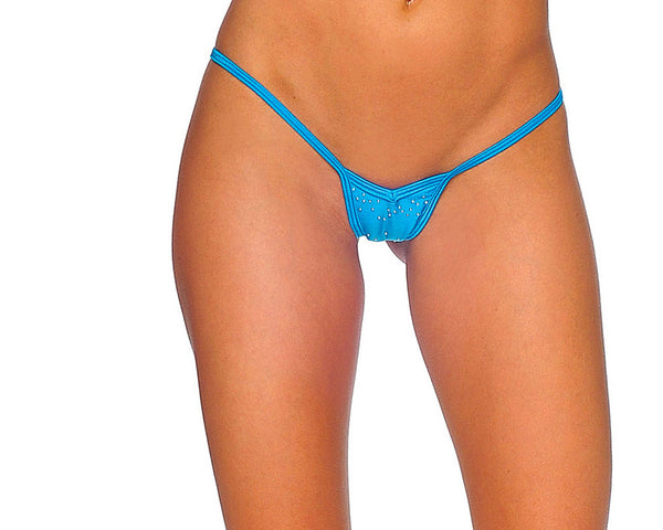 V Front Thong with Rhinedomes